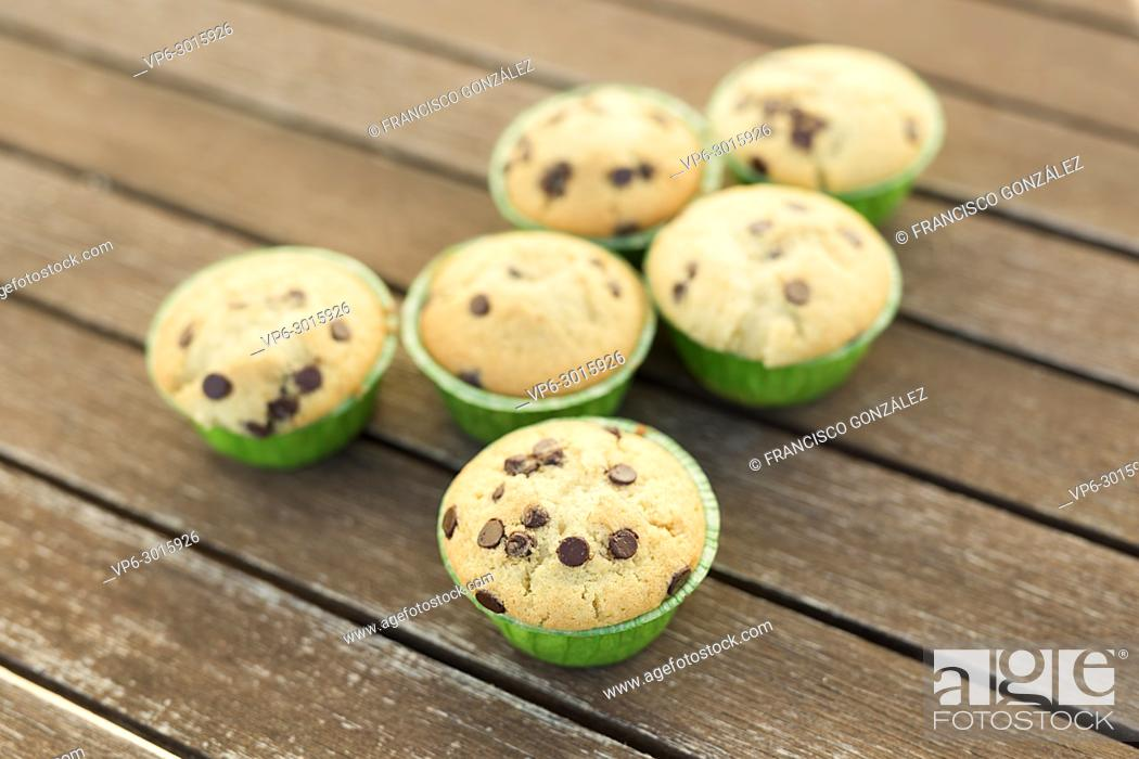 Photo de stock: Homemade muffins with natural products. Horizontal shot with natural light.