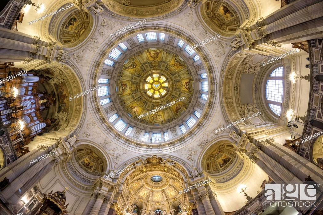Stock Photo: Ceiling of Dome Church in Berlin Cathedral.