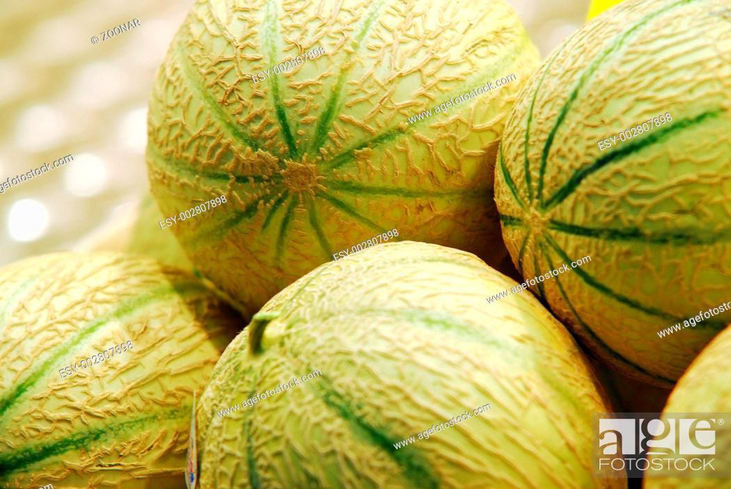 Stock Photo: Melonen, Melons.