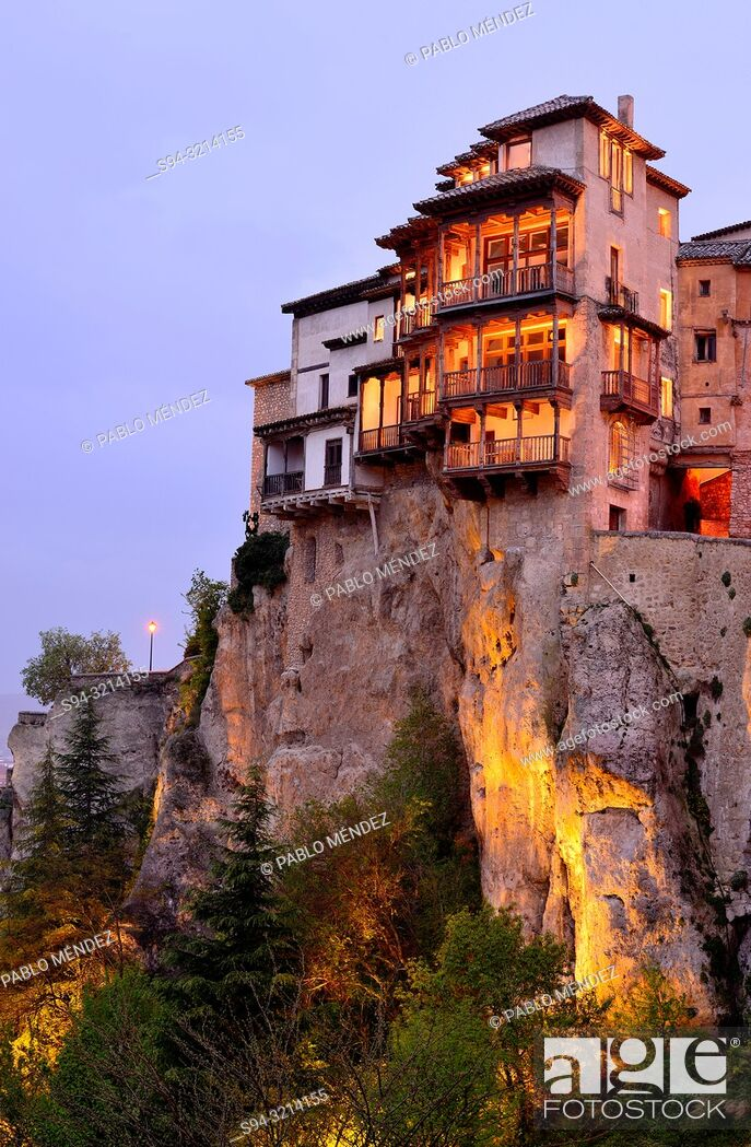 Stock Photo: Customary houses of Cuenca, Spain.