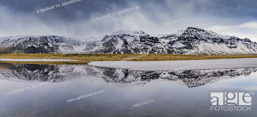 Stock Photo: Kviarjokull Glacier, Vatnajokull Ice Cap, Iceland.