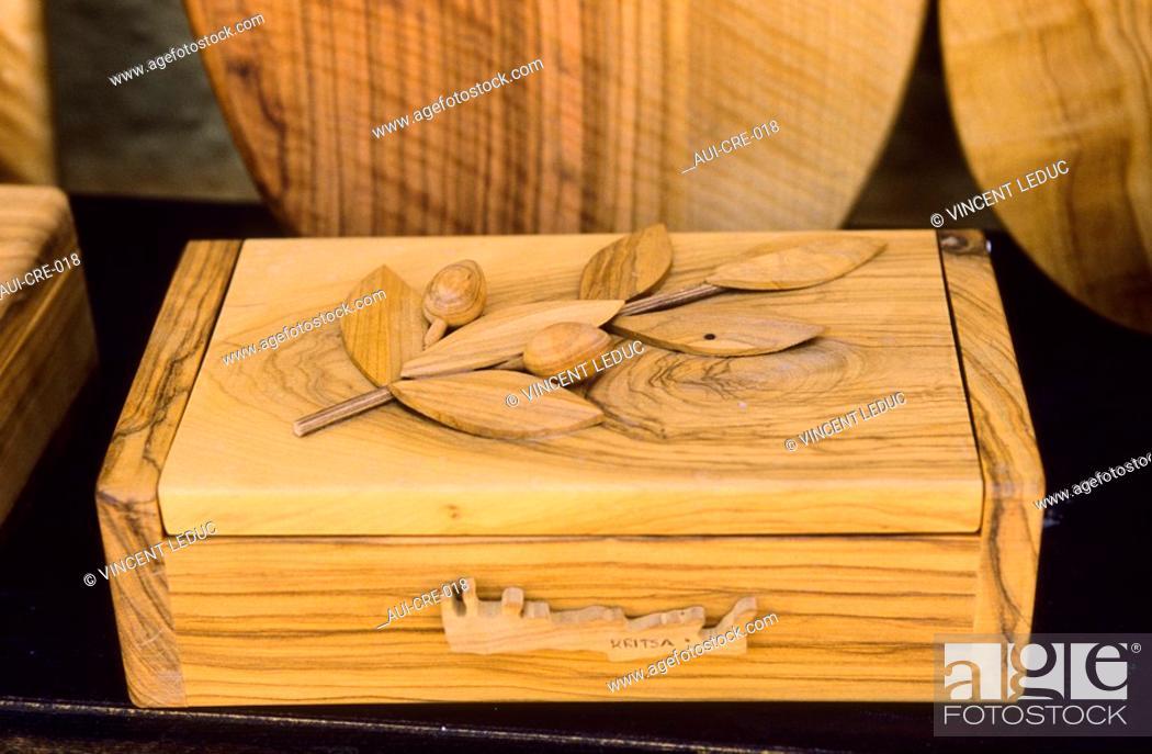 Stock Photo: Greece - Crete - Olive-wood - Krista.