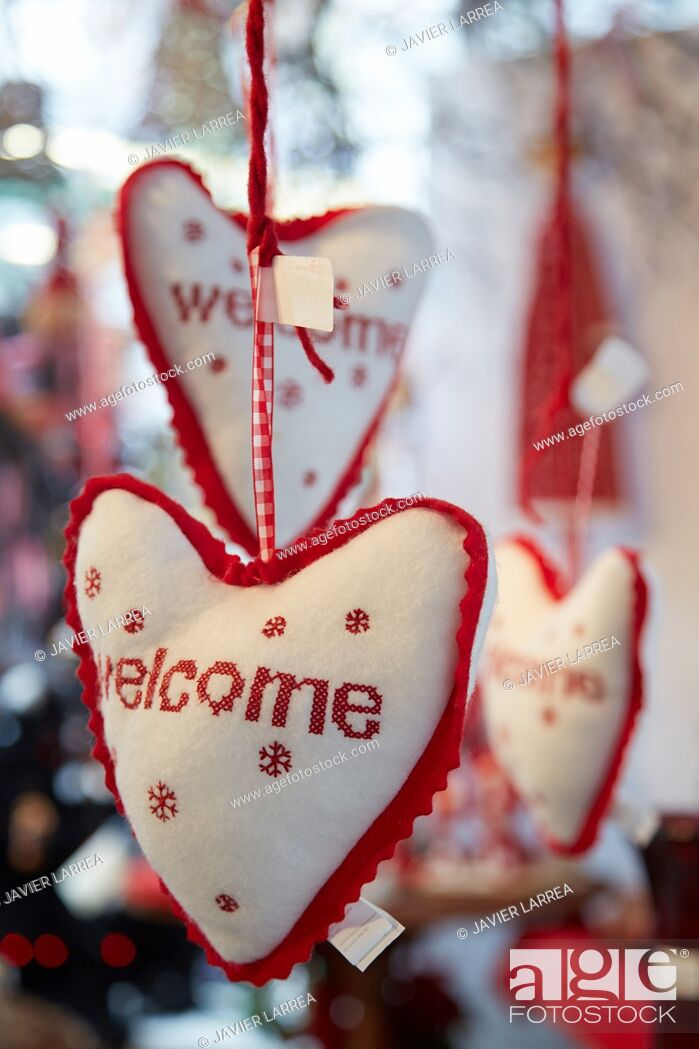 Stock Photo: Welcome, Christmas decoration, Christmas Shopping.
