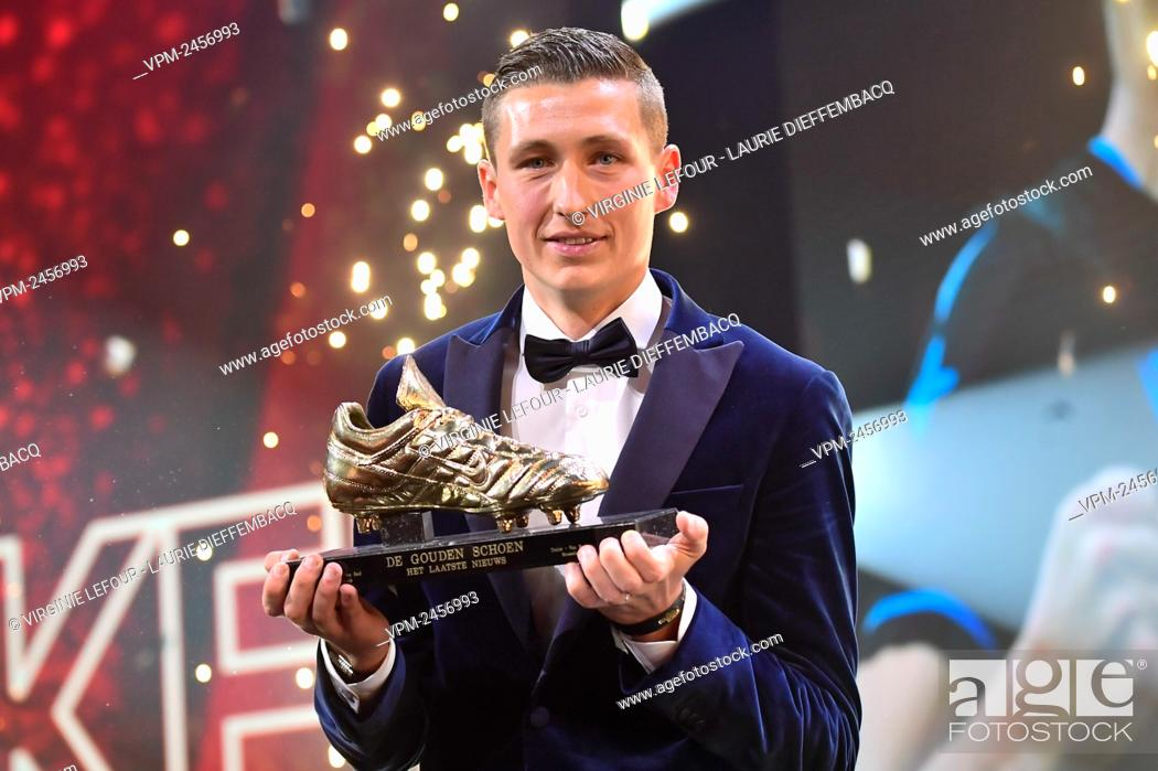 Stock Photo: Club Brugge's Hans Vanaken, winner of the Golden Shoe award, pictured at the 66th edition of the 'Golden Shoe' award ceremony, Wednesday 15 January 2020.