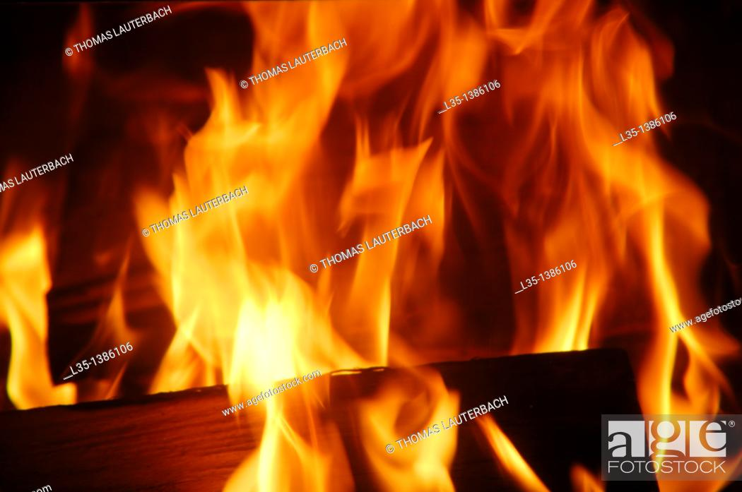 Stock Photo: Fireplace.