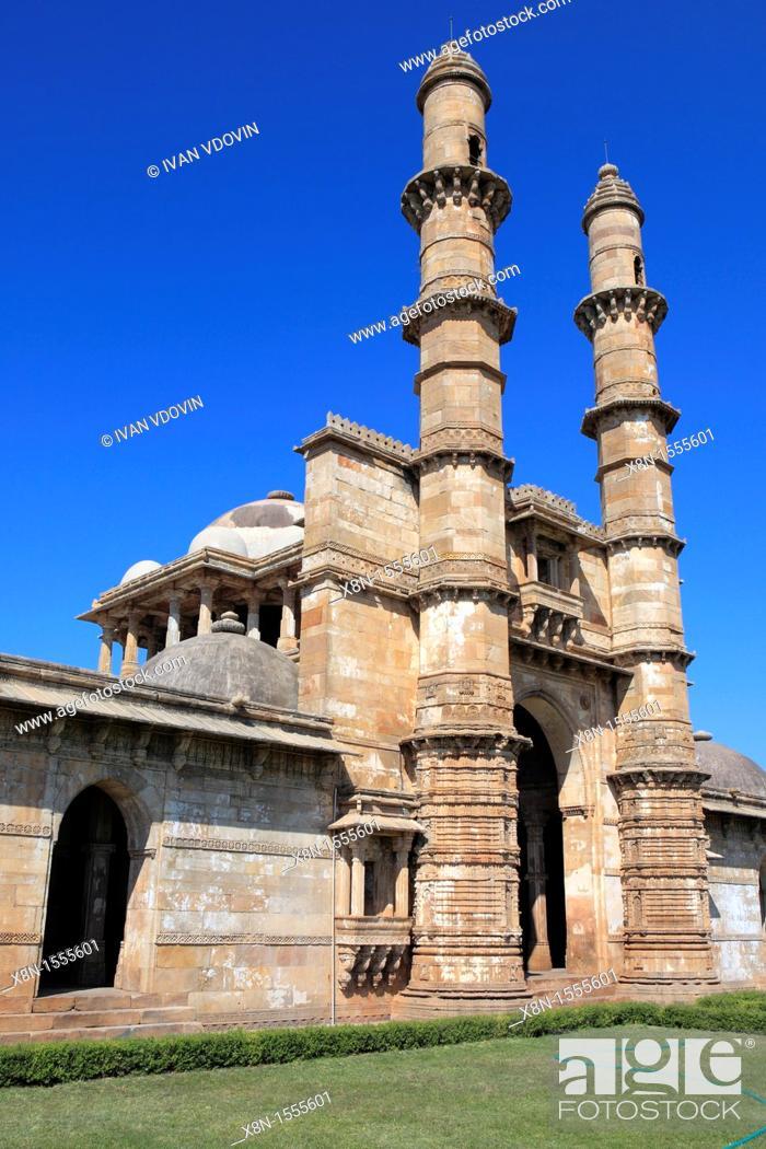 Stock Photo: Mosque 15th-16th century, UNESCO World Heritage site, Champaner, India.