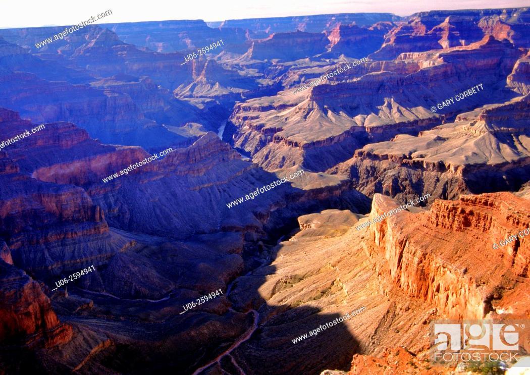 Stock Photo: Grand Canyon National Park scenic view. Arizona, USA.