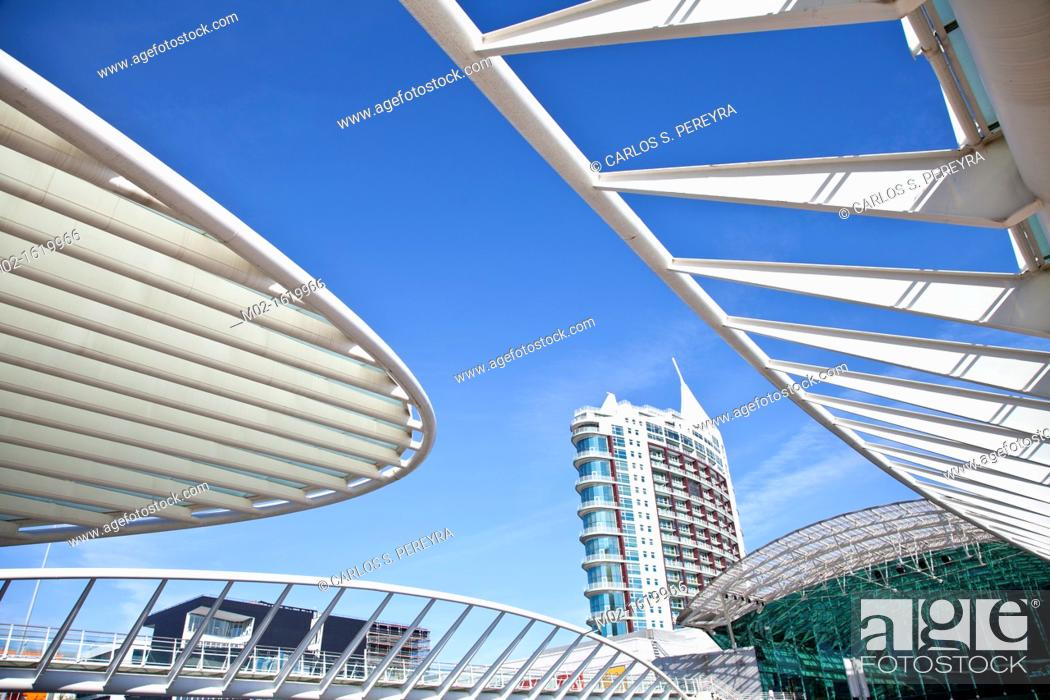 Stock Photo: Orient Station, Built by Calatrava, Lisbon, Portugal.