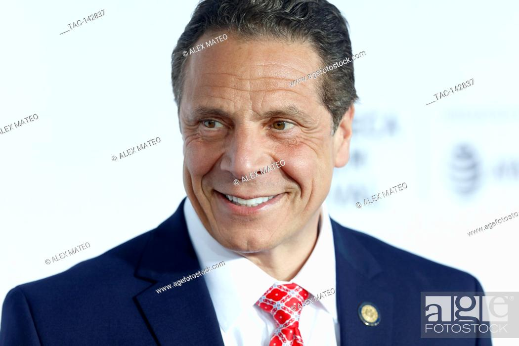 Stock Photo: Governor of New York, Andrew Cuomo arrives at the 2017 Tribeca Film Festival Opening Night, Clive Davis: The Soundtrack Of Our Lives.