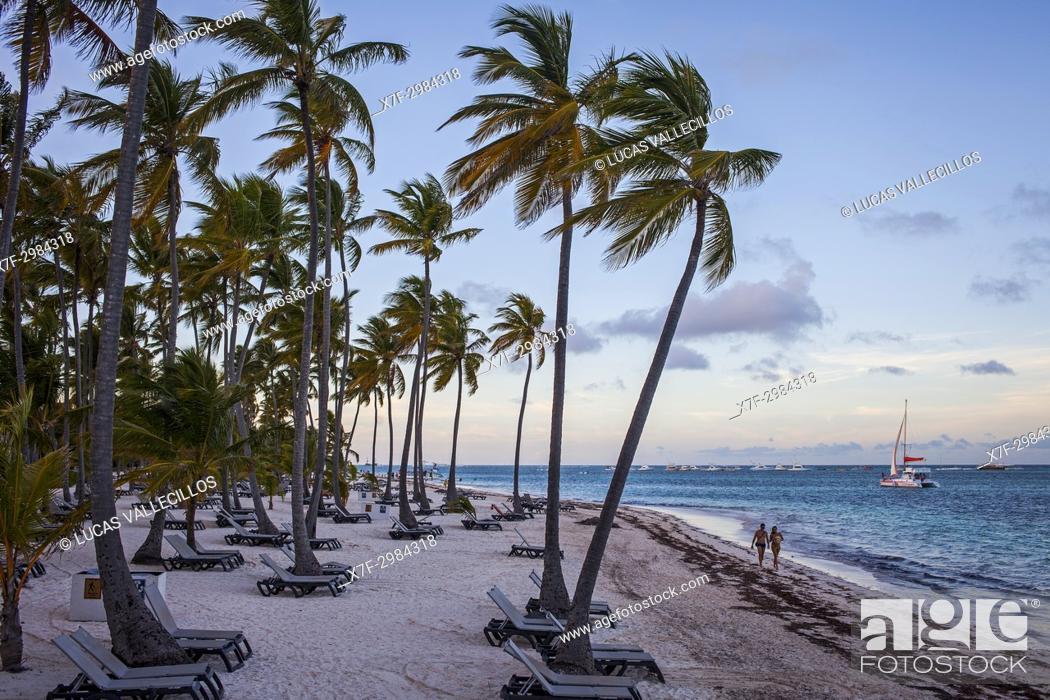 Stock Photo: Bavaro Beach, Punta Cana, Dominican Republic.