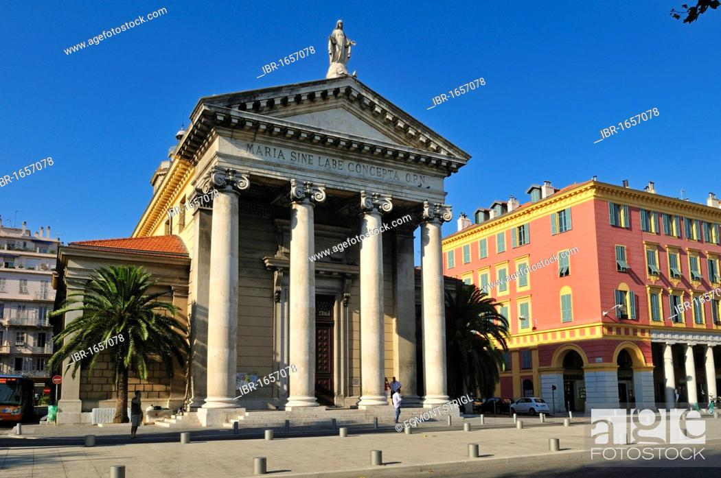 Stock Photo: Notre Dame du Port church at the harbour of Nice, Department Alpes-Maritimes, Region Provence-Alpes-Côte d'Azur, France, Europe.