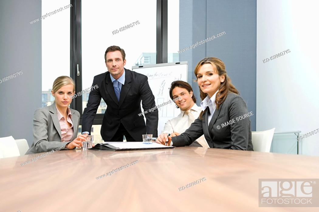 Stock Photo: Businesspeople in meeting.