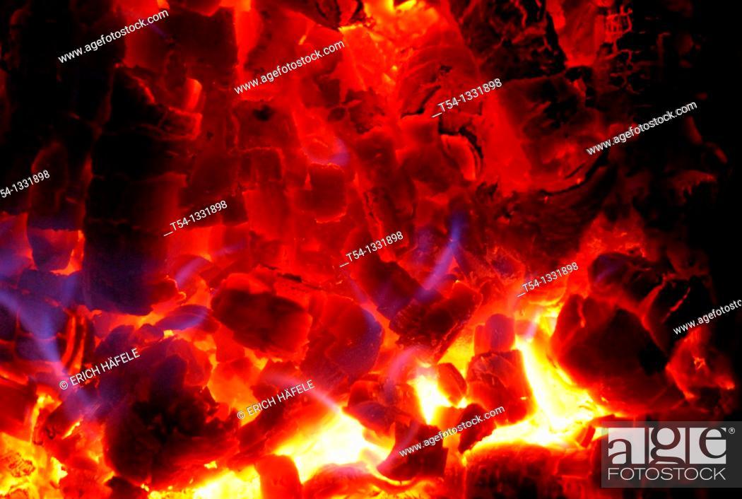 Stock Photo: Blazing log fires blaze.