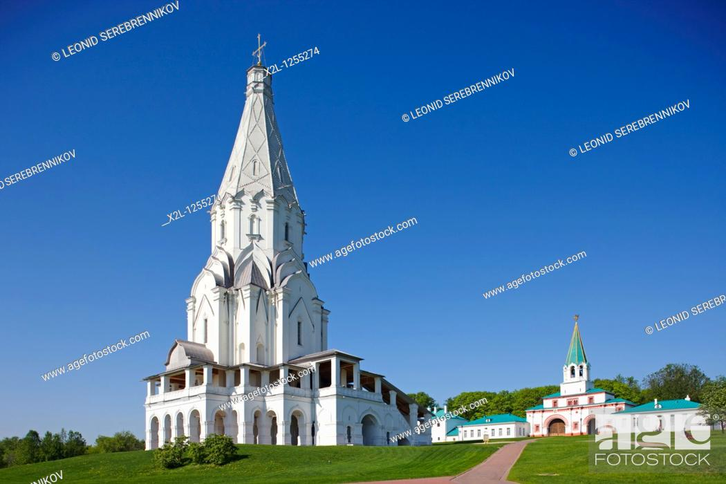 Stock Photo: The Church of the Ascension in Kolomenskoe estate  Moscow, Russia.