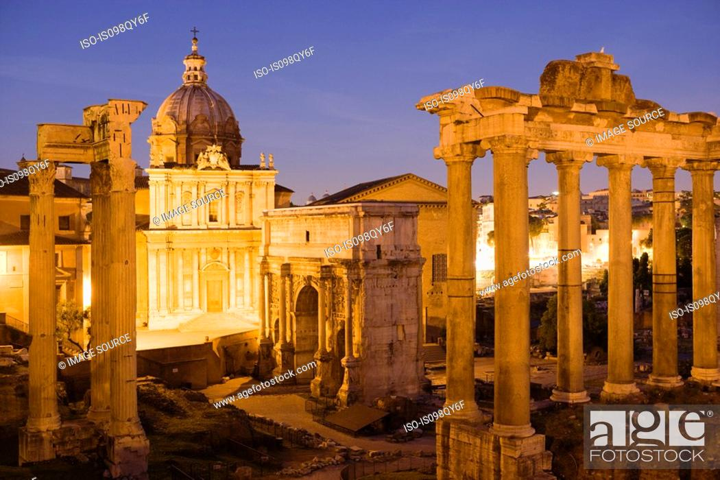 Photo de stock: Forum romanum.
