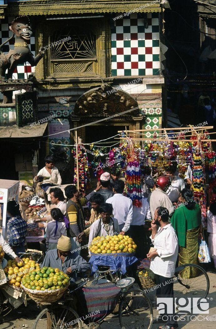 Stock Photo: Nepal, Kathmandu, Tihar Festival.