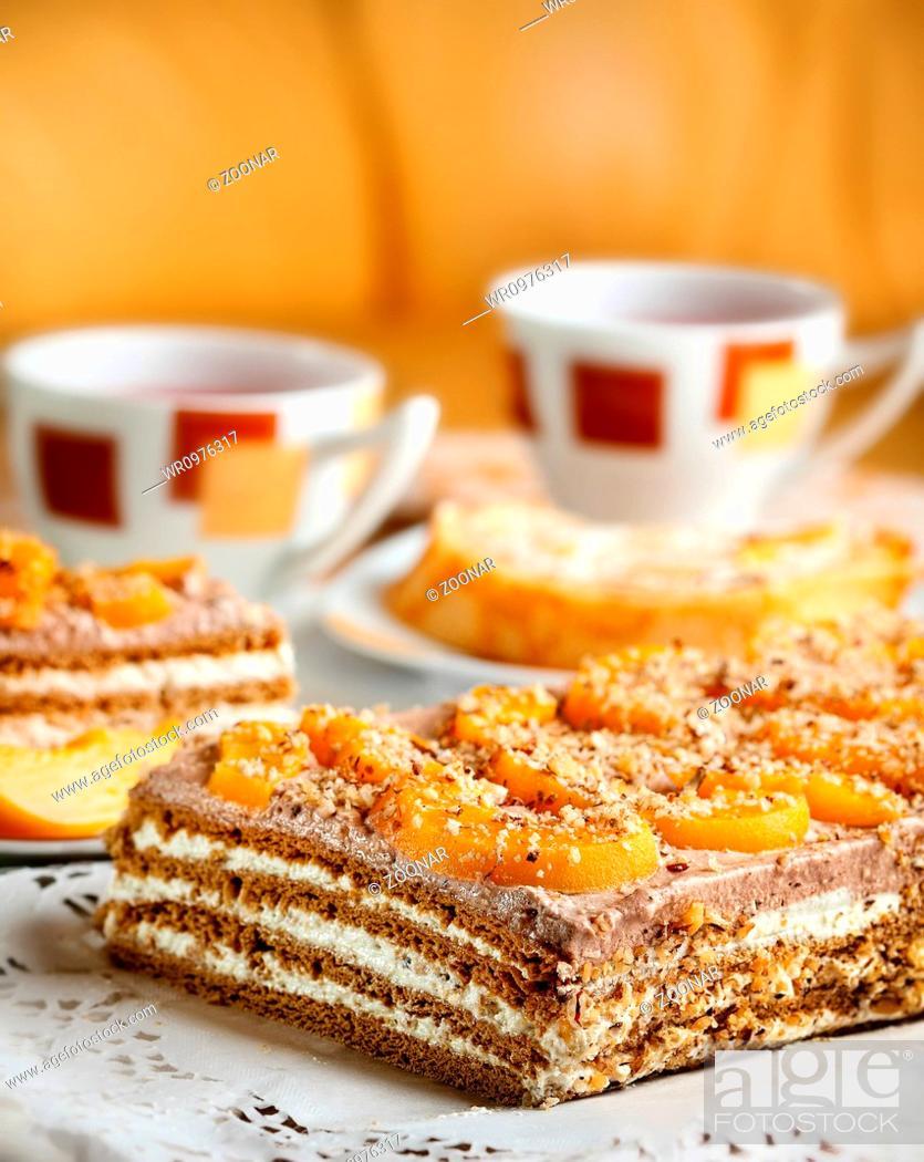 Stock Photo: Delicious walnut cakeWalnut cake.