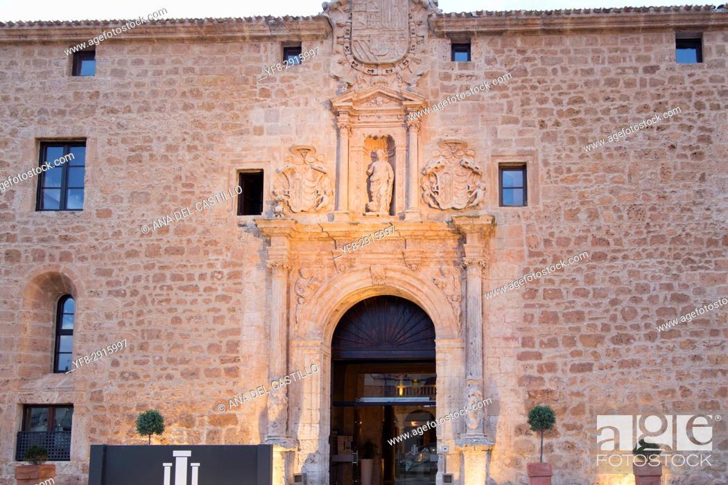 Stock Photo: Castilla termal luxury hotel in Burgo de Osma village Soria province Castile Leon Spain on June 11, 2017.
