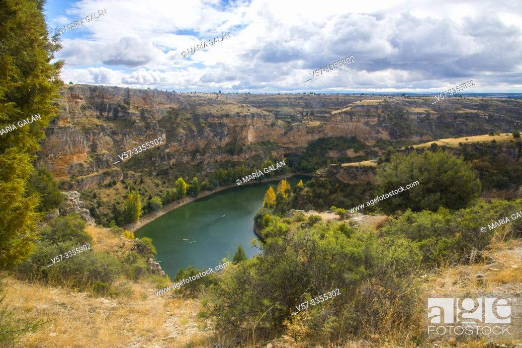 Stock Photo: River Duraton. Hoces del Duraton Nature Reserve, Segovia province, Castilla Leon, Spain.