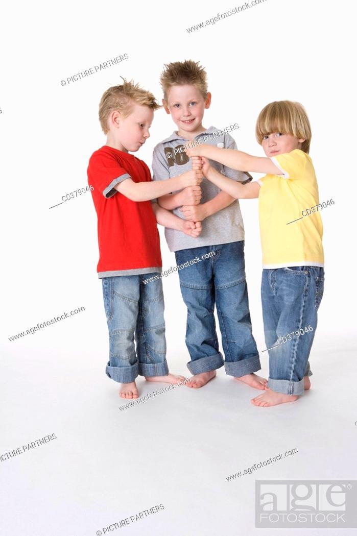 Stock Photo: Three boys.
