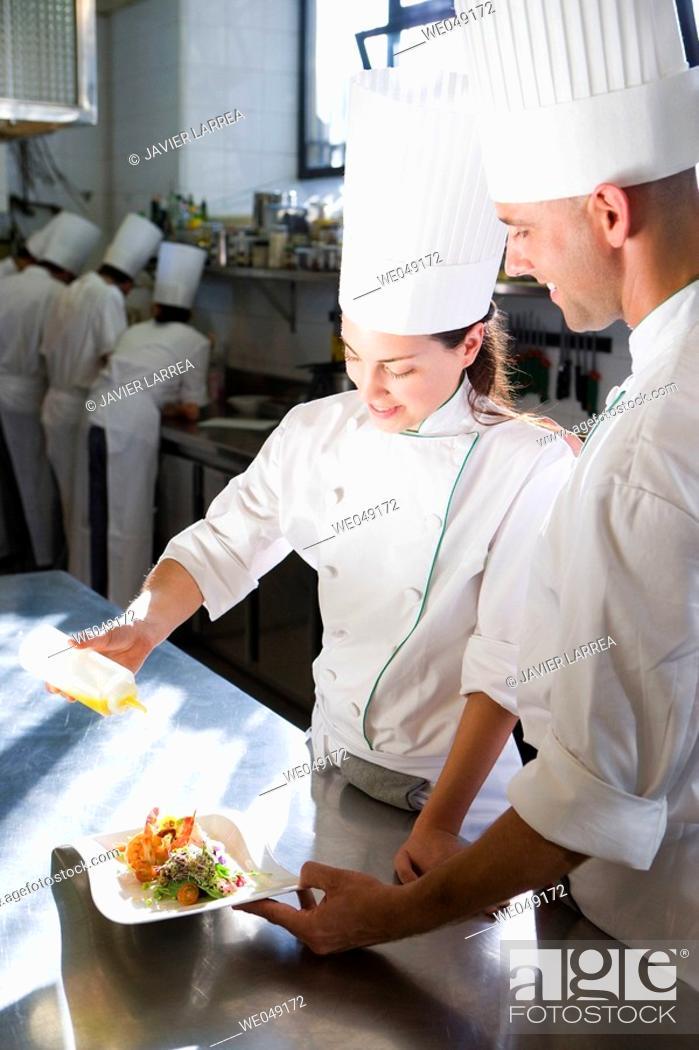 Stock Photo: Prawn salad. Luis Irizar cooking school. Donostia, Gipuzkoa, Basque Country, Spain.