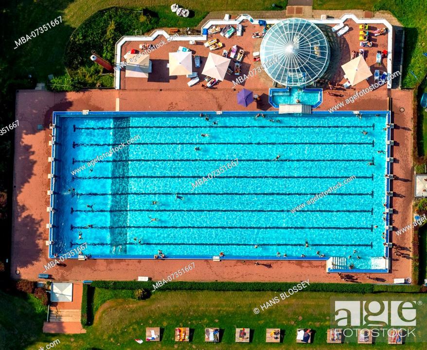 Stock Photo: Outdoor pool Hestert, outdoor pool Hagen-Haspe, outdoor pool, Hagen, Sauerland, North Rhine-Westphalia, Germany.