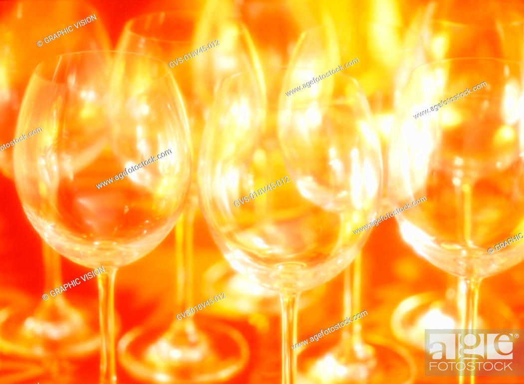 Stock Photo: Close Up of Wineglasses.