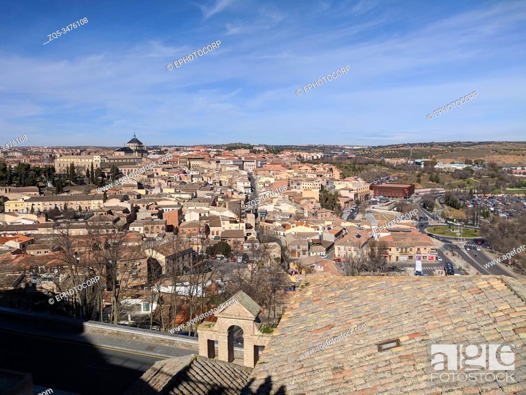 Stock Photo: Aerial view of Toledo skyline, Spain.