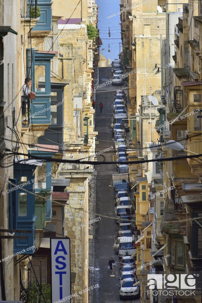 Stock Photo: Malta, World Heritage Site, Valletta.