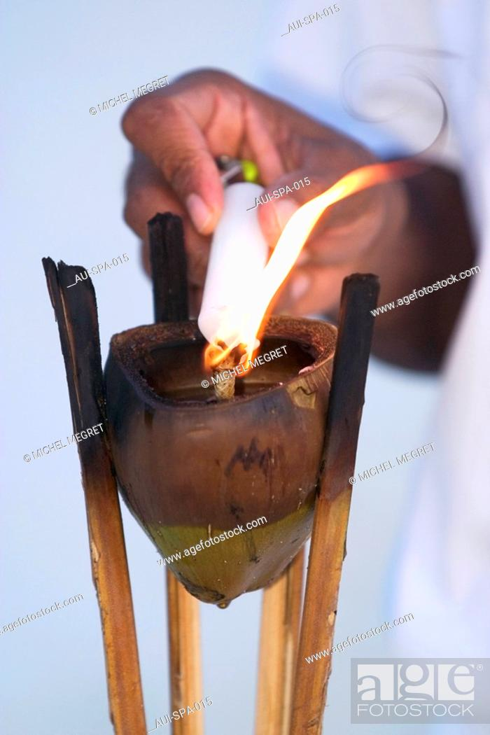 Stock Photo: Spa - Candle holder.