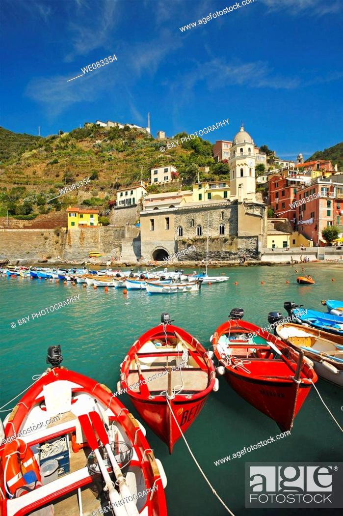 Stock Photo: Vernazza, Cinque Terre, Liguria, Italy.