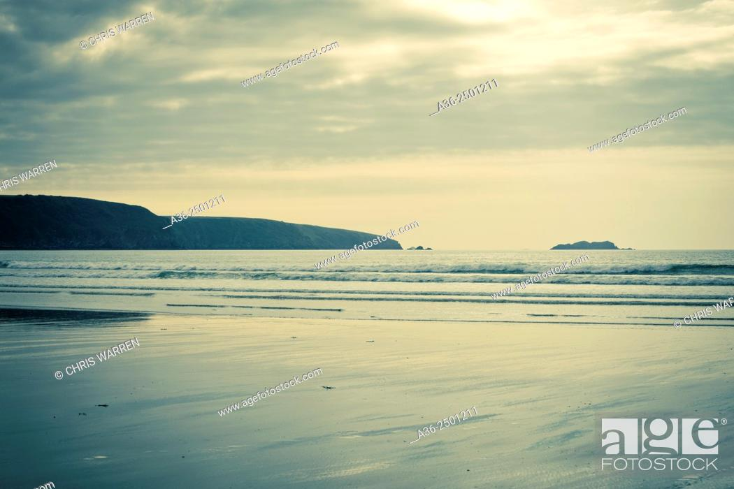 Stock Photo: Broad Haven Haverfordwest St Brides Bay Pembrokeshire Wales.
