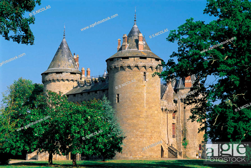 Stock Photo: France, Brittany, Combourg Castle.