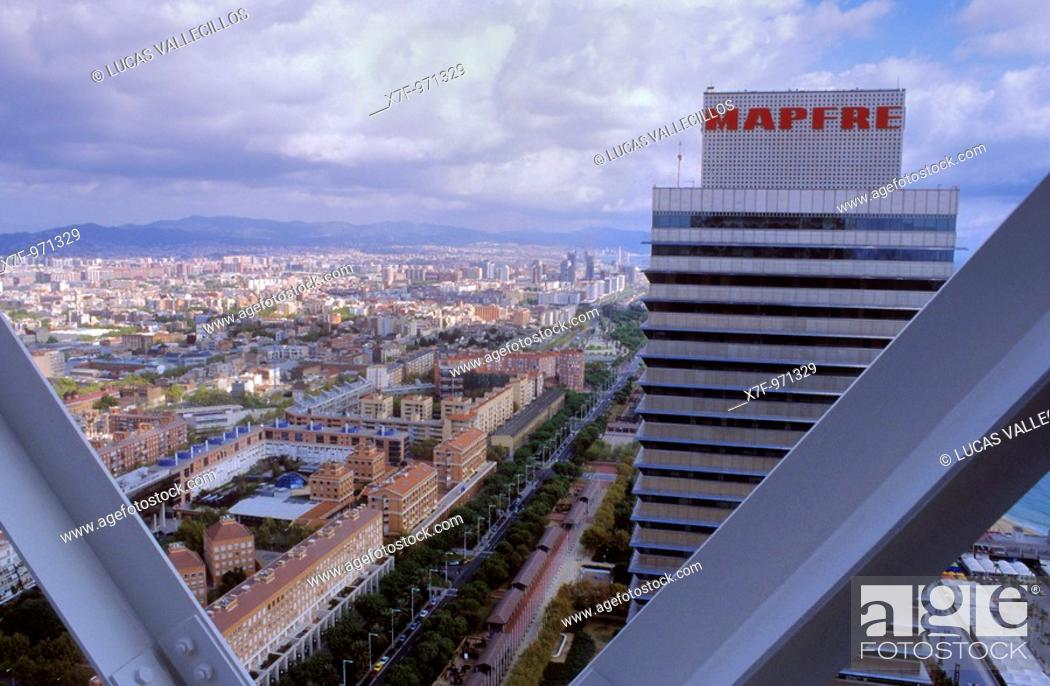 Stock Photo: Barcelona: as seen from Hotel Arts.