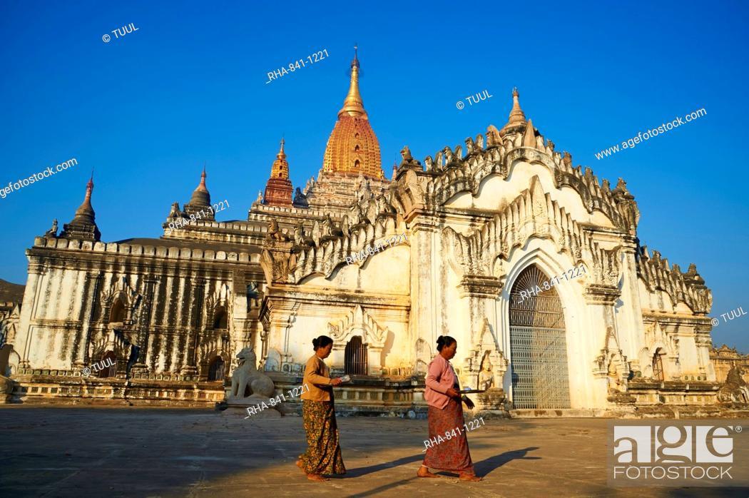 Stock Photo: Patho Ananda temple, Bagan (Pagan), Myanmar (Burma), Asia.