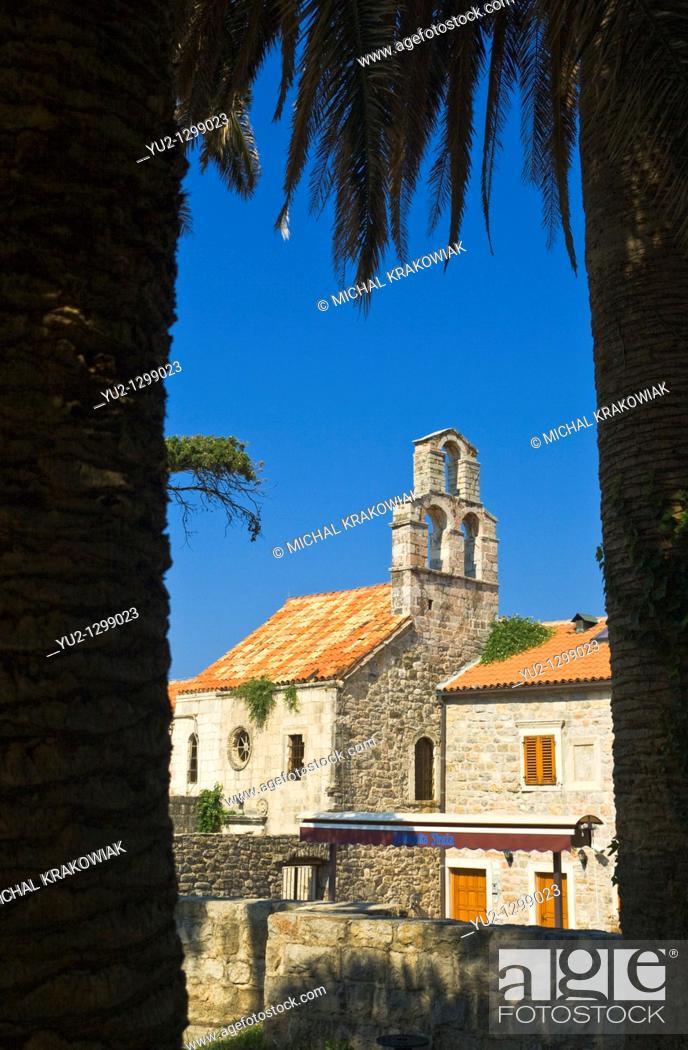 Stock Photo: Church in Budva, Montenegro.