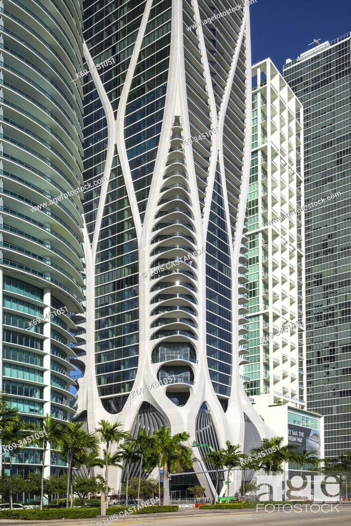 Stock Photo: Biscayne Boulevard Buildings. Downtown Miami. Florida. USA.