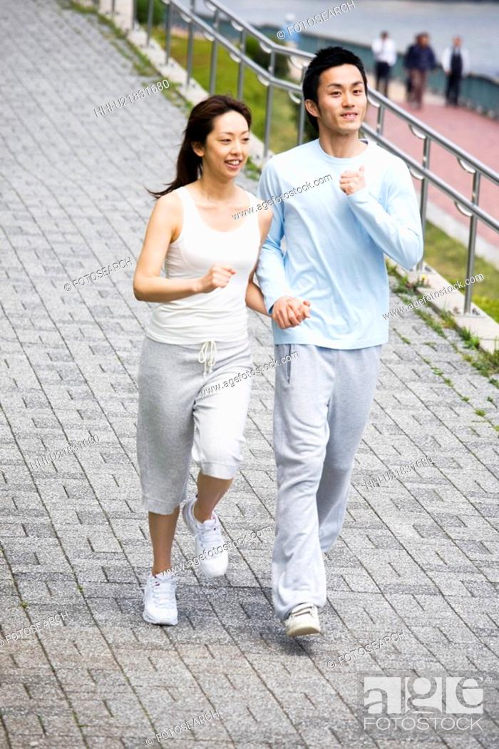 Stock Photo: Jogging.