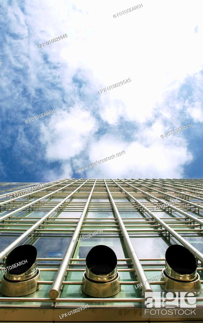 Stock Photo: Exhaust ventilation system, office building.