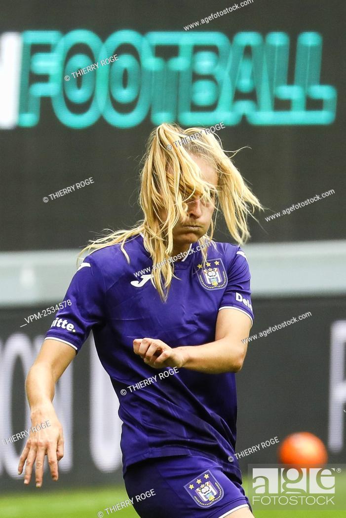 Stock Photo: Anderlecht's Tessa Wullaert pictured during the soccer match between RSCA Anderlecht and Standard de Liege, on the first day of the Women¿øs Scooore Super.