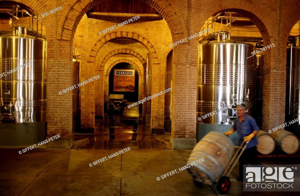 A View Of The Cellar At The Bodega Terrazas De Los Andes In
