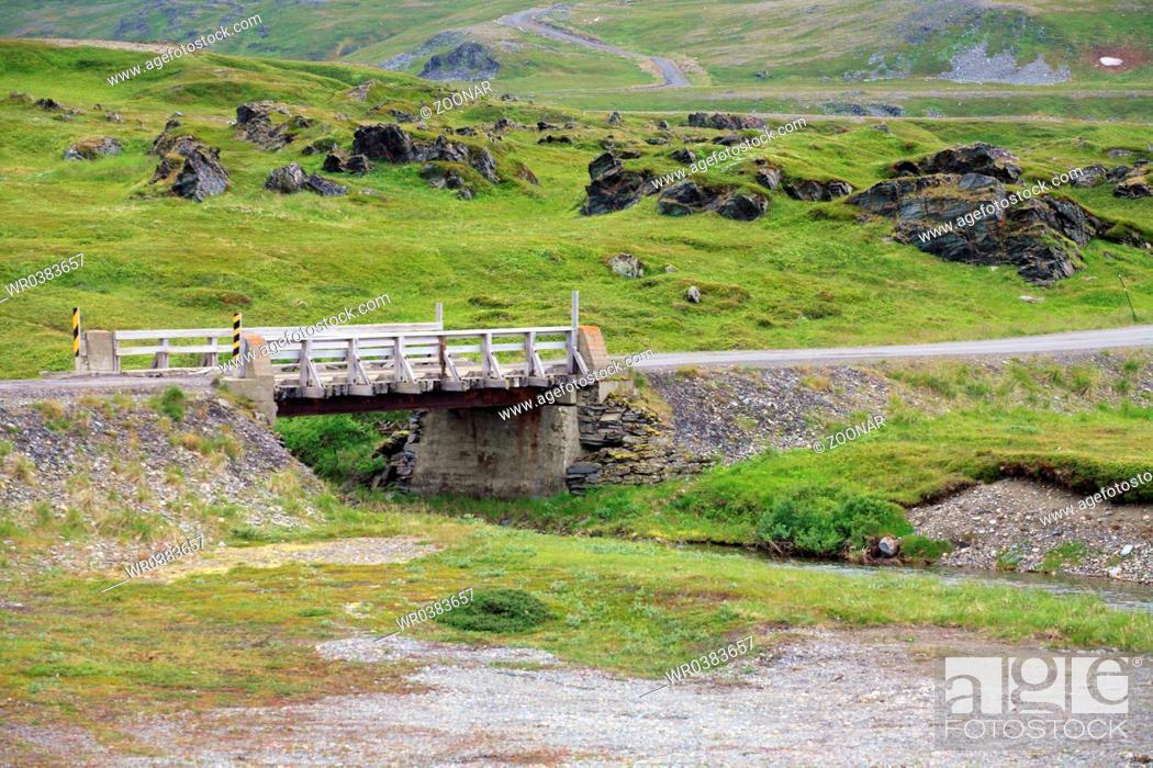Stock Photo: Little bridge in Northern Norway.