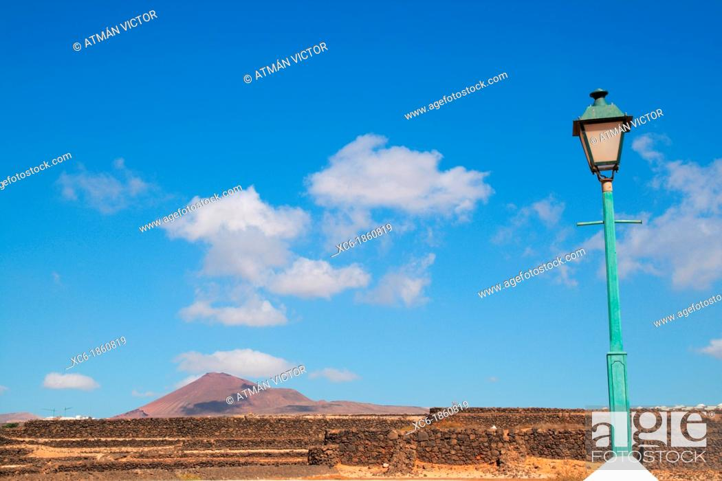 Stock Photo: Landscape of Costa Teguise Lanzarote.