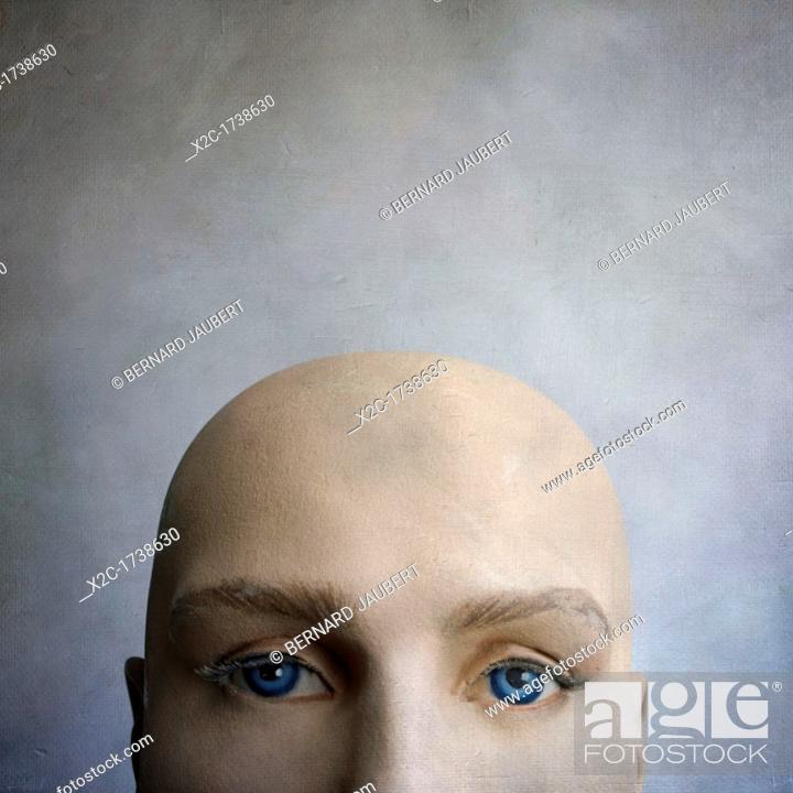 Stock Photo: Head of a dummy.