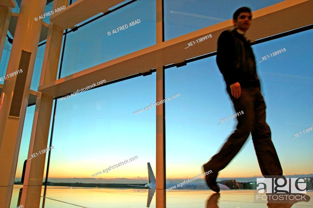 Stock Photo: Termina 1, el Prat's airport, Barcelona, Catalonia, Spain.