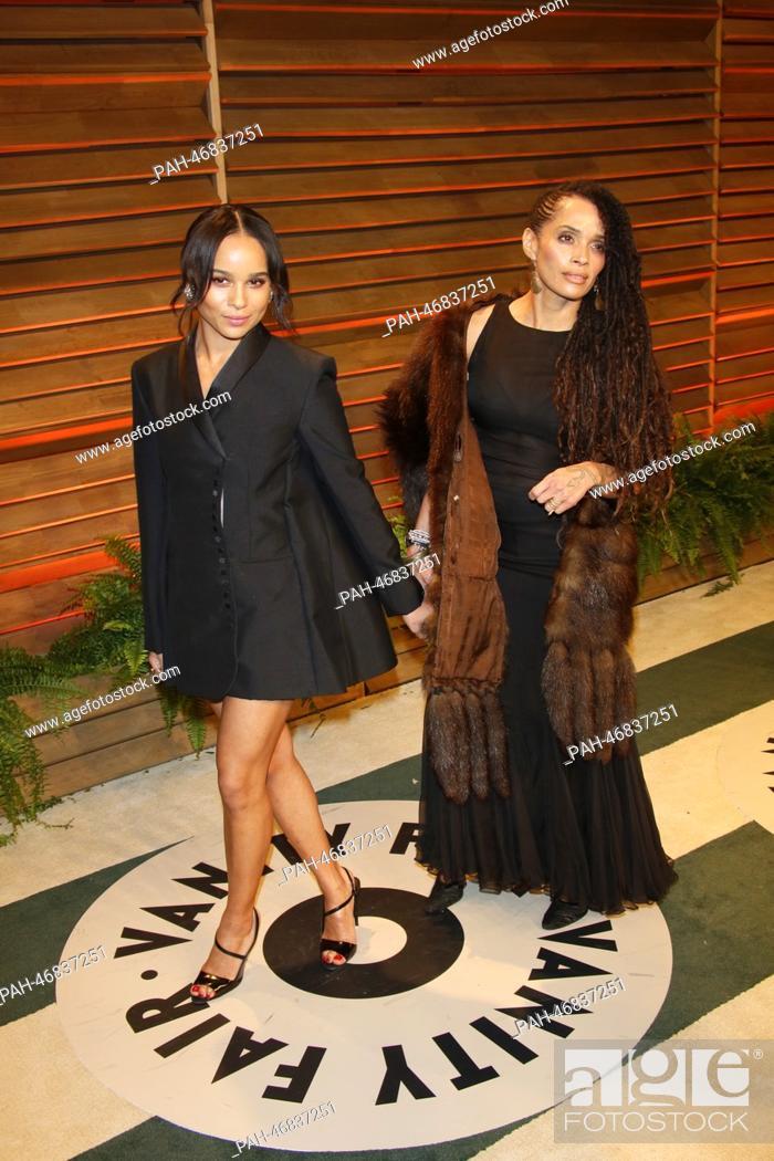 Lisa Bonet R And Daughter Zoe Kravitz Arrive At The Vanity