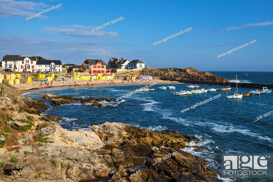 Stock Photo: France, Loire-Atlantique, Batz-sur-Mer, the beach.