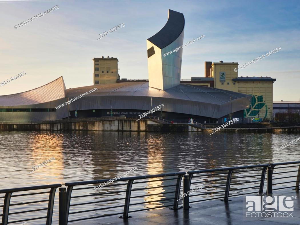 Stock Photo: Imperial War Museum North (IWM), Trafford Park, Greater Manchester, United Kingdom.