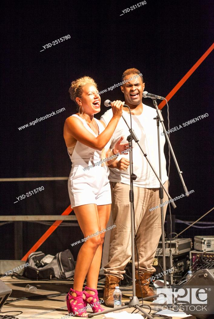 Imagen: Tahirah Memory and Shawn Taylor at Pozzuoli Jazz Festival.