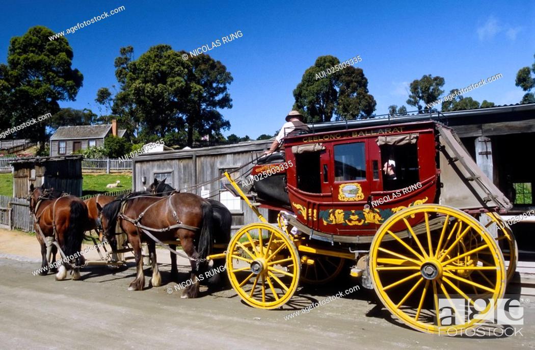 Stock Photo: Victoria - Ballarat - Sovereign Hill.